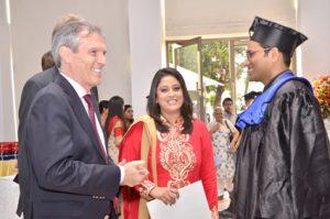 H.E. Ambassador Steiner meets the IGTC Topper Ashwin Jayaraman