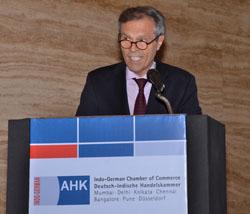 H.E. Ambassador Steiner delivers his keynote address