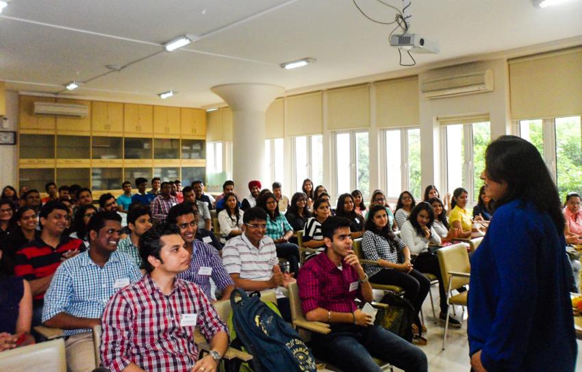Ms. Radhieka Mehta addressing the new batch