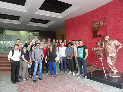 Fully Filmy Students at The Yash Raj Film Studio
