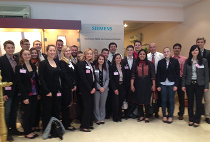 Students visited the Siemens Plant at Kalwa