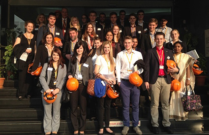 Students visit the BASF Lab at the BASF Plant in Turbhe