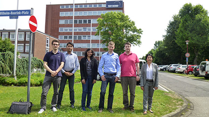 Ankita Moghe, IGTC student with colleagues in Germany