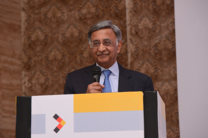 Chief Guest Mr. Baba Kalyani, Chairman and Managing Director, Bharat Forge Limited delivers his keynote address