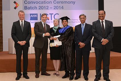 The Dr. Günter Krüger Award for Excellence presented to Shashank Chandrasekharan, IGTC Kolkata