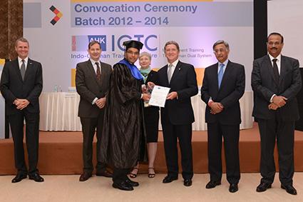 The Dr. Günter Krüger Award for Excellence presented to Amol Lokegaonkar, IGTC Mumbai
