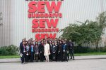 Finally, the students were fortunate to visit the world's largest 'verbund', fully integrated chemical plant, BASF at Ludwigshafen.  After a start at the BASF Visitor's Centre, students were given a bus tour of the humungous plant, almost the size of