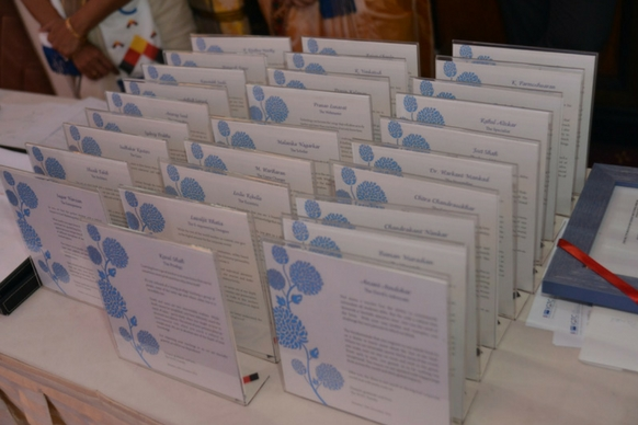 Memento cards with write-ups for each faculty member, written by their students