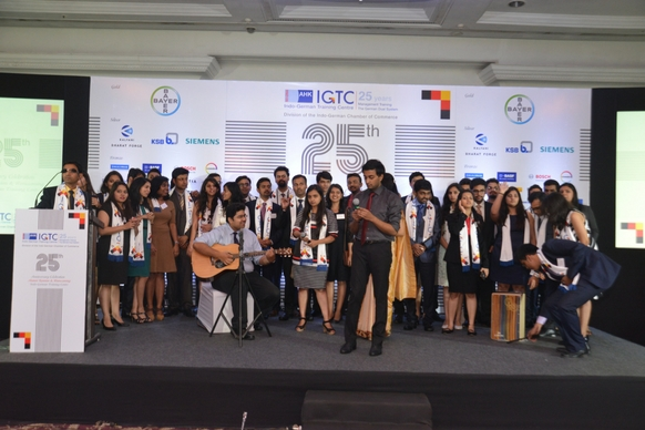 Students of various batches entertain each other with their song and mimicry performances on stage!