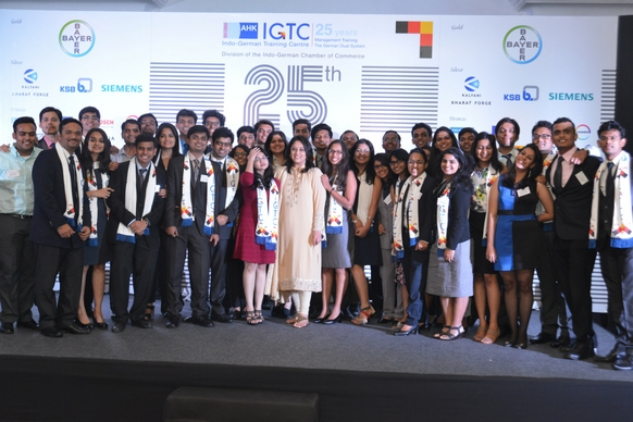 Ms. Radhieka Mehta, Director, IGTC, with the students