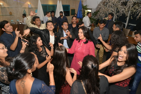Radhieka Mehta, Director, IGTC, joins in the fun and dance!