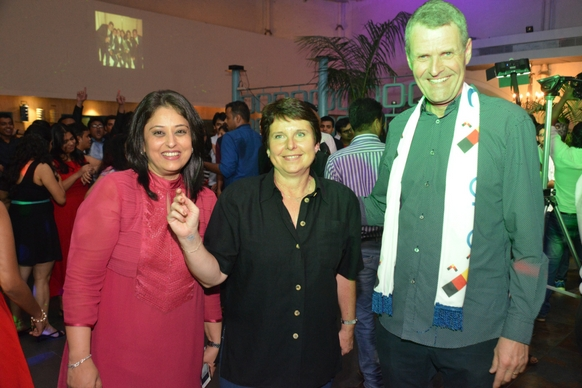 Radhieka Mehta, Director, IGTC with Bernhard Steinrücke, Director General, IGCC