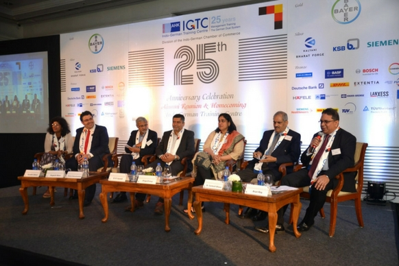 The panel discussion on 'Learning: A Gift, A Skill and A Choice' in progress