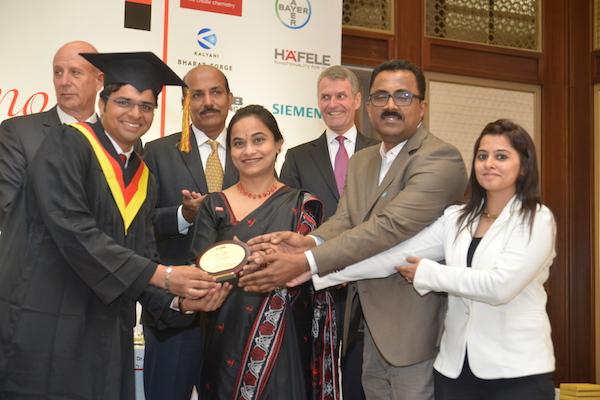 Tanay Kadam, received the 'BASF Award for Business Ethics and Corporate Governance'