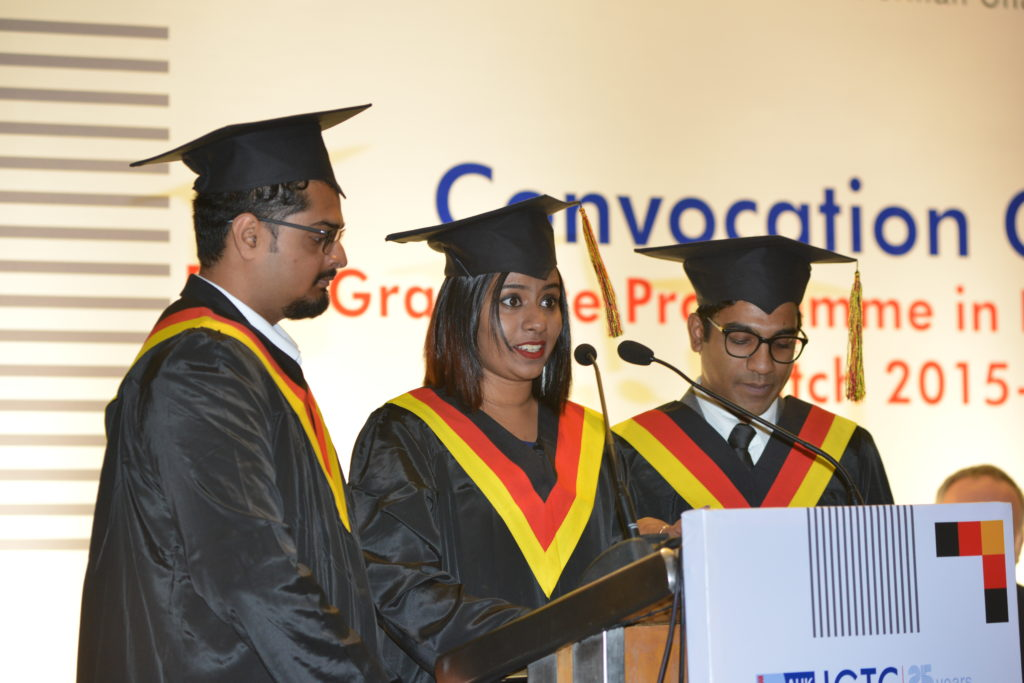 11 Sneha Arakal, Mohit Sawant and Sandeep Selvan from the graduating batch share their experiences at IGTC