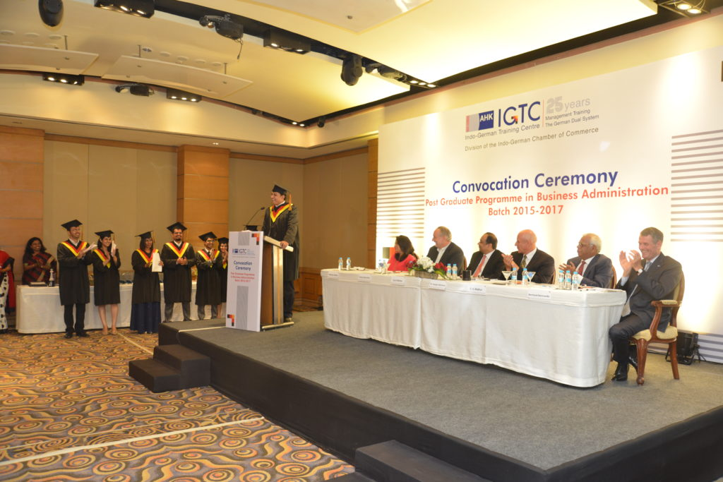 12 (2) Pushkaraj Bhide from the graduating batch share his experience at IGTC