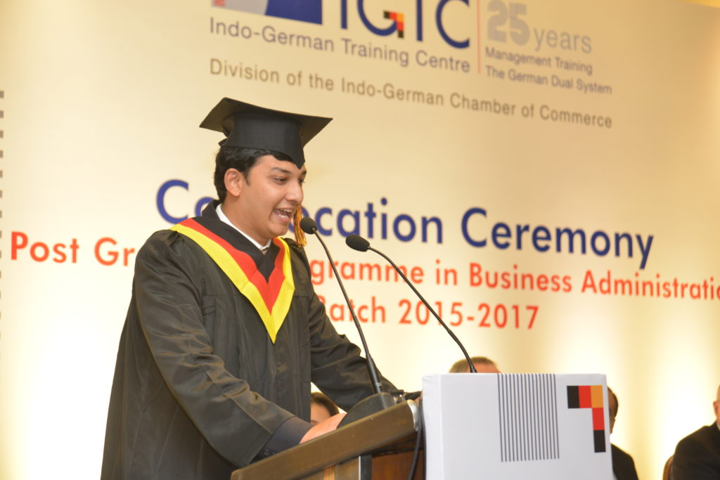 12 Pushkaraj Bhide from the graduating batch share his experience at IGTC