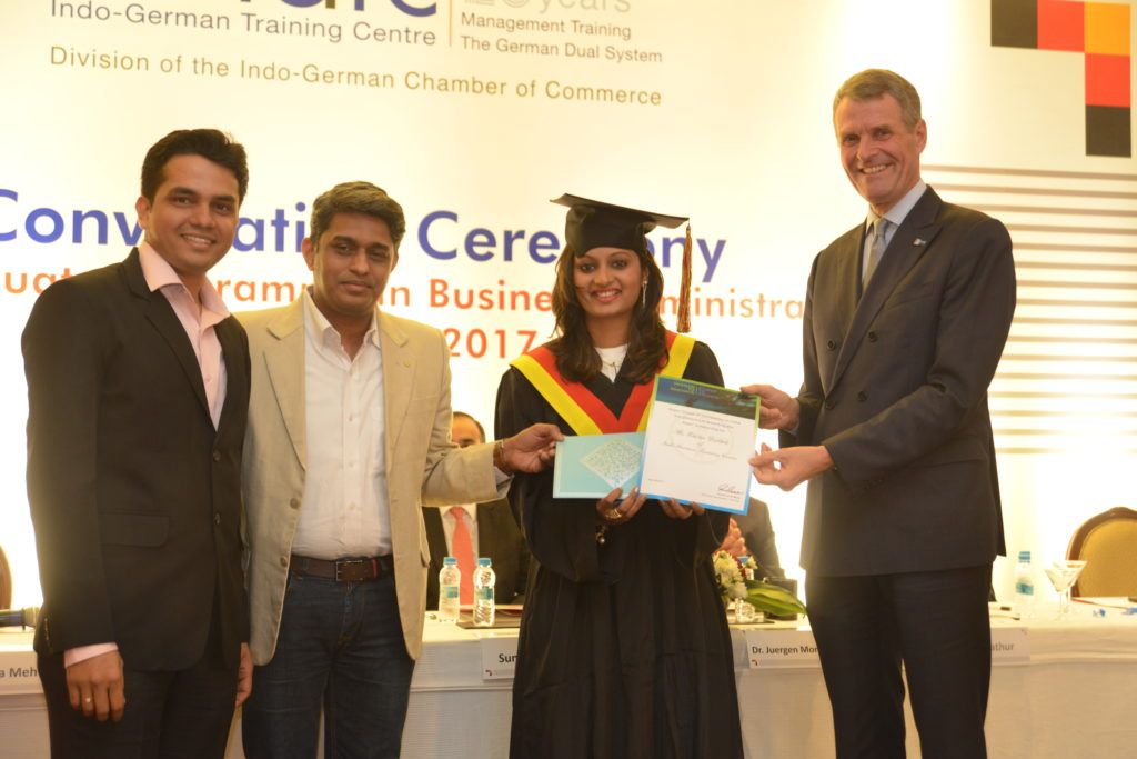 "16 (16) Kshitija Datkhile recruited by Wacker Chemie India, receives the Bayer Scholarships ""Championing Success"" award from Vaibhav Rane, Expert – Talent Attraction"