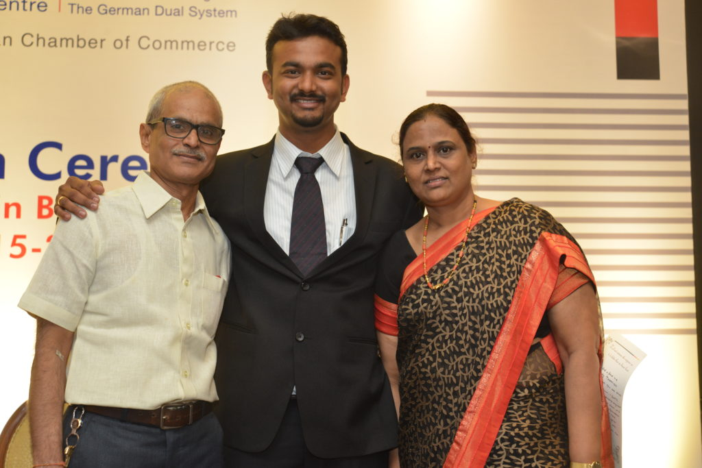 16 (27) Proud parents of Girish Kamath, trained and recruited by Siemens Ltd