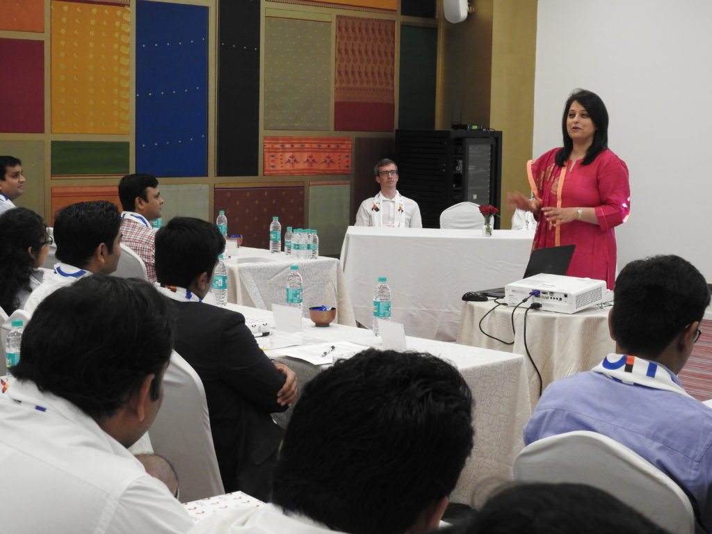 Ms. Radhieka Mehta, Director, IGTC inducts the new batch