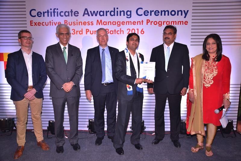 Akshay Deshpande, Senior Manager, Volkswagen India Pvt. Ltd. receives his certificate