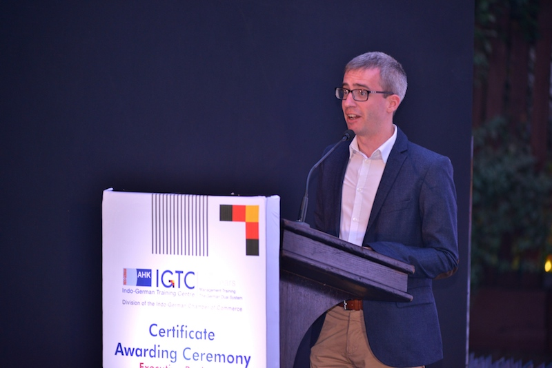 2. Welcome by Frank Hoffmann, Regional Director, Indo-German Chamber of Commerce, Pune