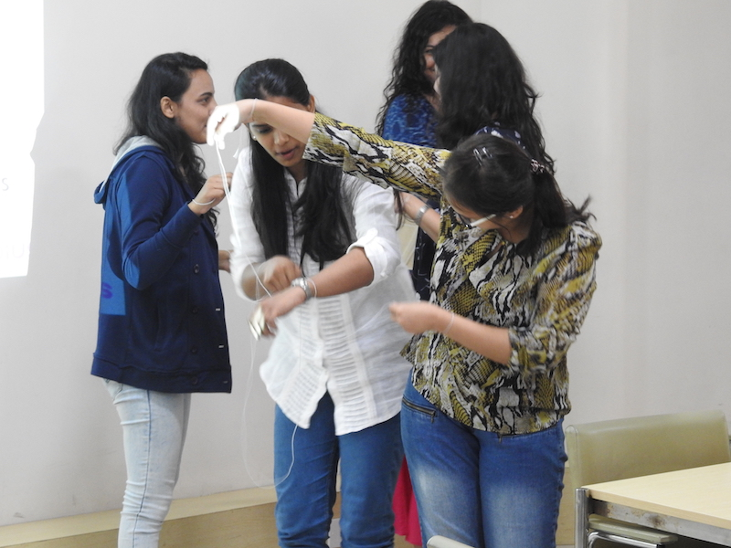 An activity conducted as part of the workshop