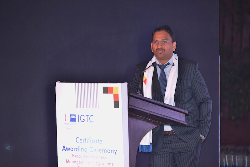 8. Vaijnath Sangekar, Deputy Manager, Thyssenkrupp Indistries India Pvt. Ltd. Shares his experience about the EBMP course