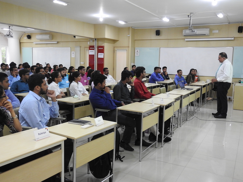 Alumni Arum Roy, Chief Financial Officer, Chervon USA , PGPBA Batch 1992-1994 took the students through his two-decade journey from being a student to a top management professional