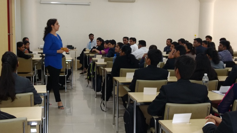 Ekta Dusija, Project Manager - Marketing at Bayer Group systematically imparts her success mantras to the students