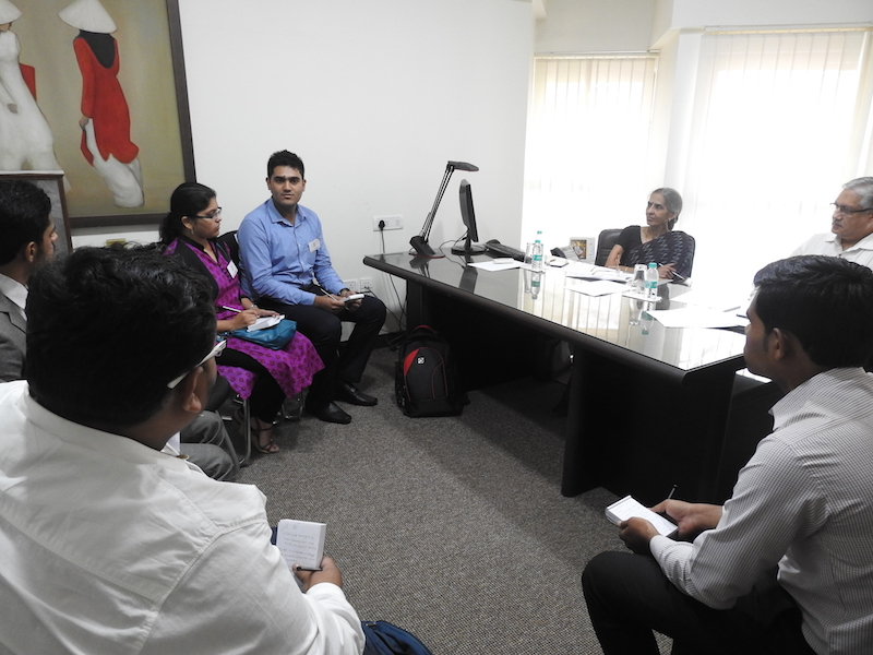 Groups Discussion in progress with faculty as panellist