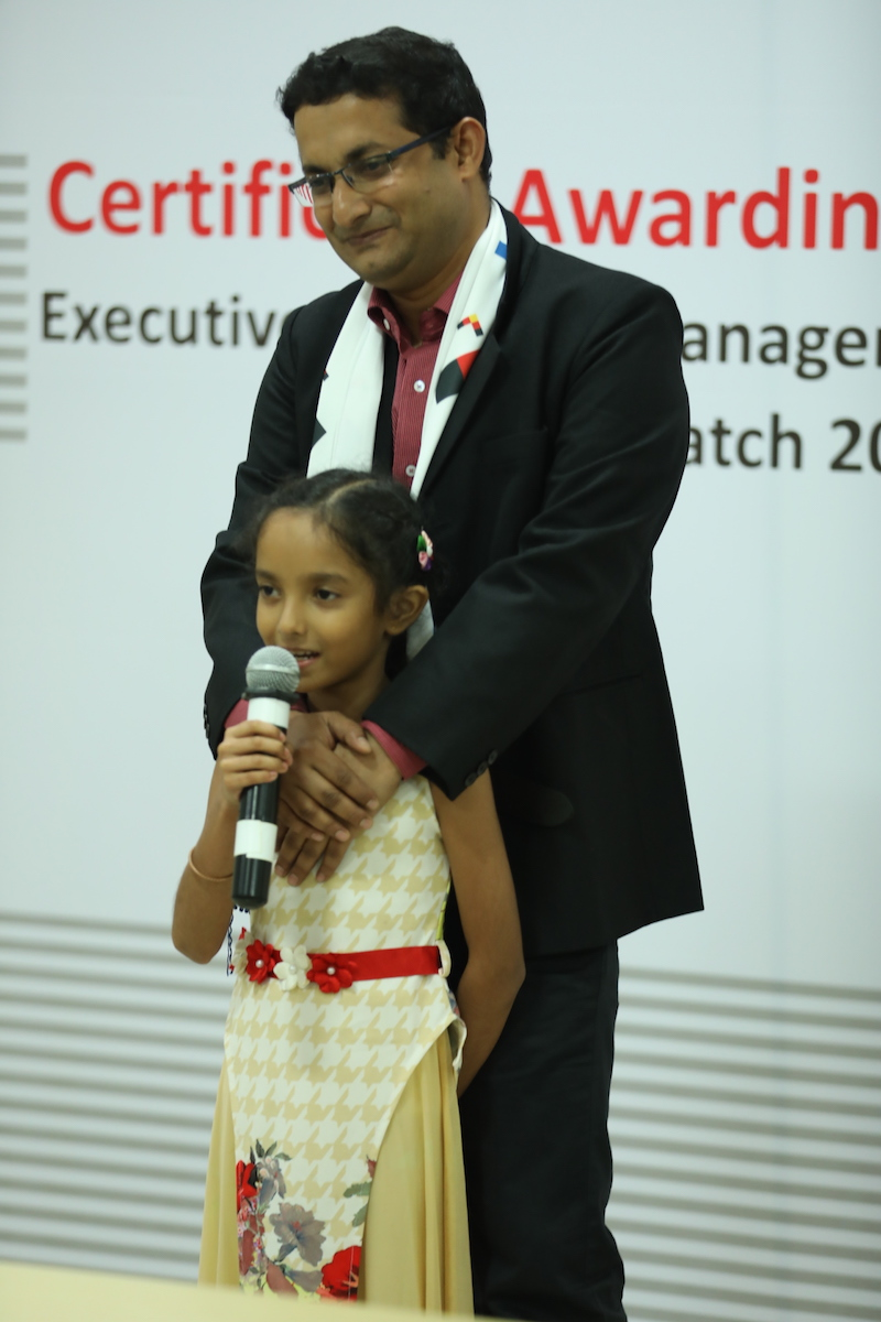 Tanusha Bhattarcharya, the 8-year old daughter of Jayanta Bhattarcharya, Manager Projects and Engineering, BASF India, steals the limelight with her speech.