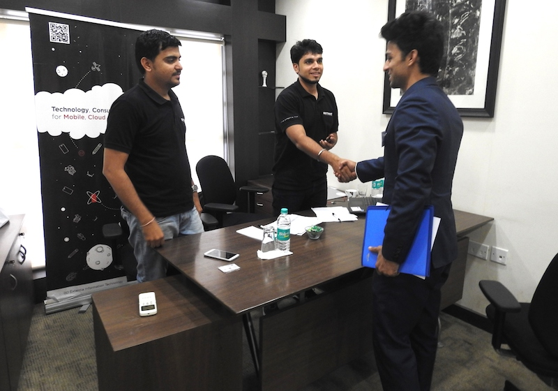 Alumni from various companies come back to IGTC to conduct interviews