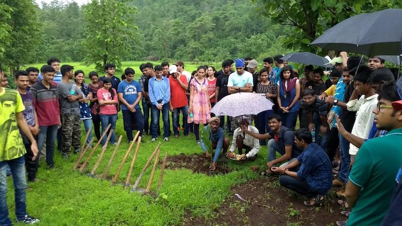 Tree plantation drive with Siemens Ltd. at Jawhar