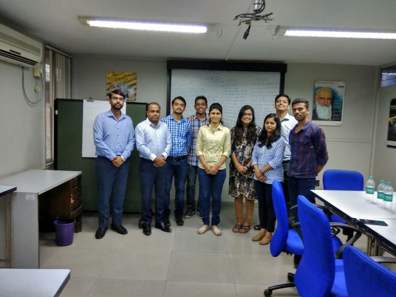 IGTC students at Bosch Mumbai to conceptualize a plan to visit colleges