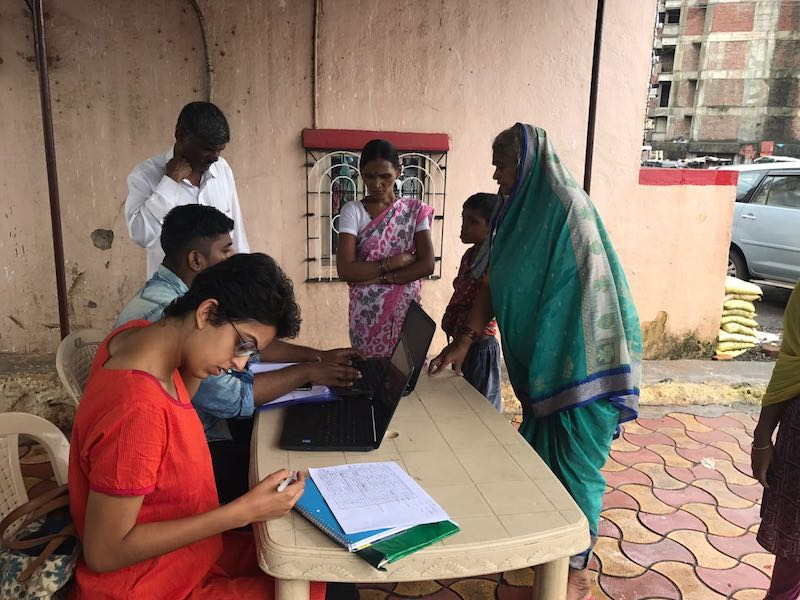 Students visit communities in Mumbai to research problems faced by the residents there