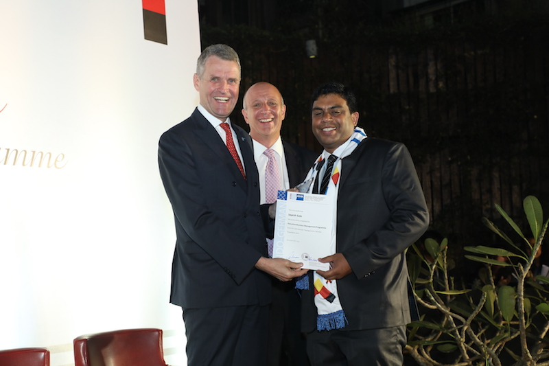 Jayesh Sule, Senior Manager, Volkswagen India Pvt. Ltd. receives his certificate from Bernhard Steiruecke, Director General, IGCC