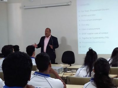 """Mr. Biju Mathew, Head - Supply Chain & Information Services, South Asia, conducted the session on """"Sourcing the Ethical way!"""""""