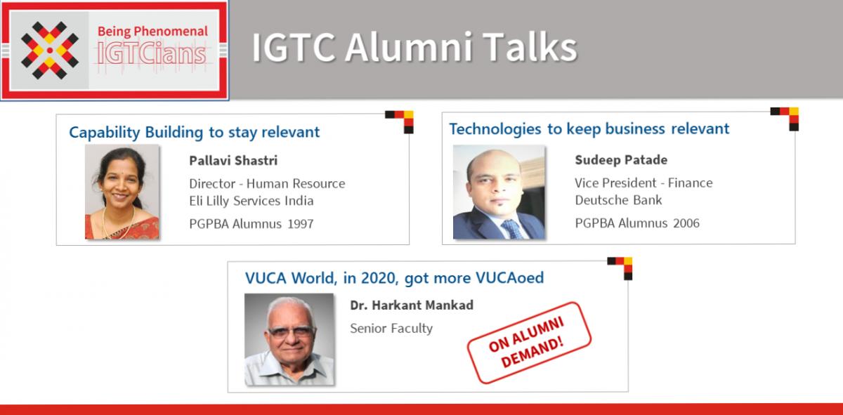 IGTC Alumni Talks: Our Signature Series Rejuvenating the Alumni-Faculty Bond