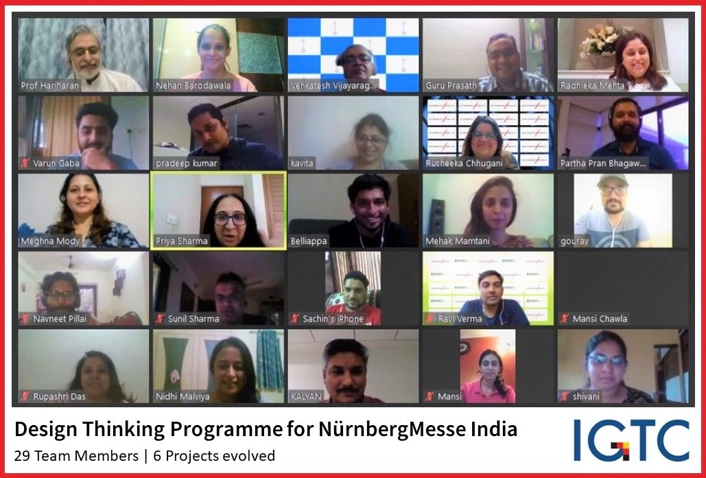 Design Thinking for NürnbergMesse India  A specially curated training programme